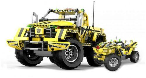 Távirányítós építőkészlet 2:1 sport pickup / teher autó a Double Eagle -től - 514 db-os szett! 6 km/h, 30 méteres hatótáv, C51003W