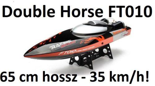 Double Horse FT010 RC távirányításos motorcsónak, hajó 65 cm hossz, 35 km/h!
