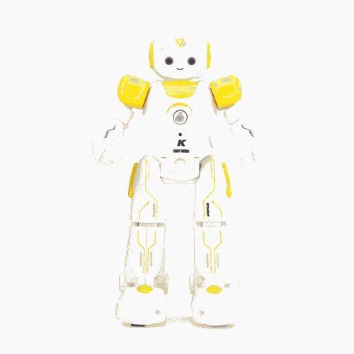 JJ/RC R12 CADY WISO RC Robot 27cm interaktív programozható intelligens vezérléssel (interaktív távirányítós játék) - sárga