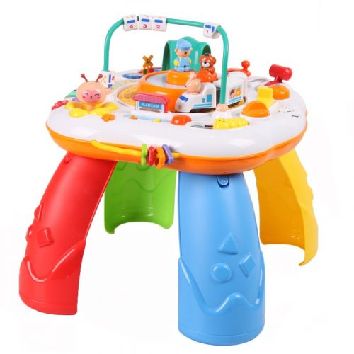 Játszó asztal gyerekeknek - Vonat, zongora, számtalan hang, színes játékok