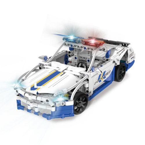LEGO kompatibilis távirányítós rendőrautó a Double Eagle -től  - Összerakós, 430db-os szett. 10 km/h, 25 méteres hatótáv!