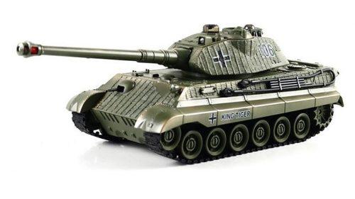 Német Királytigris távirányítós modell Tank: 330 mm hossz, infravörös tüzelés egymás ellen + realisztikus hanghatás!