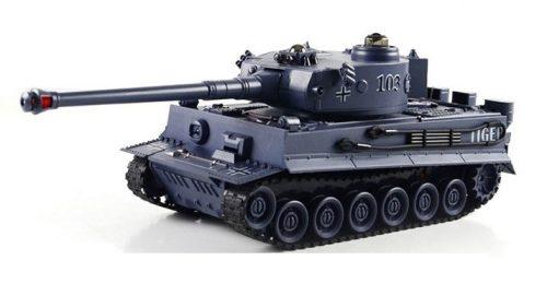 Német Tigris távirányítós modell Tank: 330 mm hossz, infravörös tüzelés egymás ellen + realisztikus hanghatás!