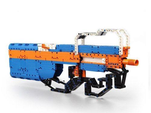 LEGO kompatibilis P90 gépkarabély Double Eagle -től  - Összerakós, 581 db-os szett, polifoam lövedékkel