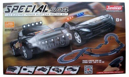 Slot Car - A kötöttpályás autóversenyző pálya. 530mm pályahossz, 2 híd, 2 ugrató