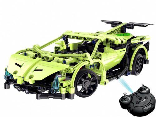 LEGO kompatibilis távirányítós versenyautó (C51007W) Double Eagle -től  - Összerakós, 453 db-os szett. 6 km/h, 25 méteres hatótáv!