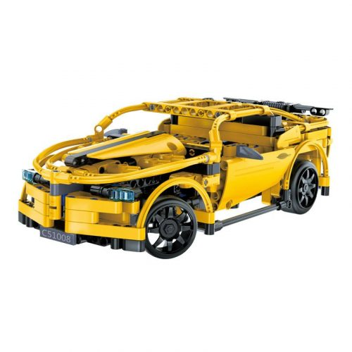 LEGO kompatibilis távirányítós versenyautó Double Eagle -től  - Összerakós, 419 db-os szett. 6 km/h, 25 méteres hatótáv!