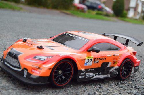 NQD Drift Turbo Furious narancssárga - Drift autó: 340 mm hossz, 25 km/h!