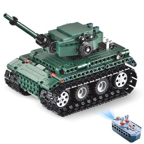 LEGO kompatibilis, távirányítós Tiger tank a Double Eagle -től  - Összerakós, 313 db-os szett. 6 km/h, 25 méteres hatótáv!
