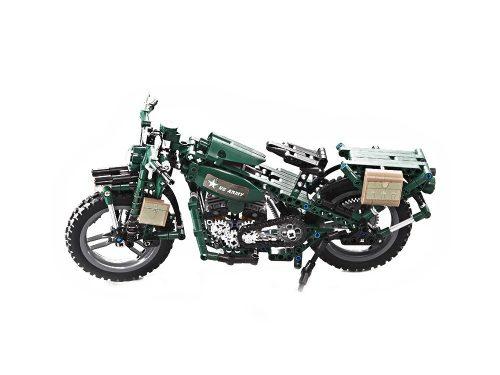 II. világháborús motorkerékpár (C51022W) a Double Eagle -től  - Összerakós építőjáték, 550 db-os szett.