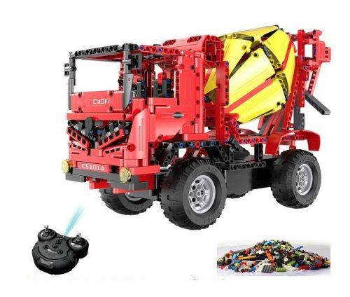 LEGO kompatibilis távirányítós betonkeverő a Double Eagle -től!- Összerakós, 814 db-os szett. 6 km/h, 25 méteres hatótáv!