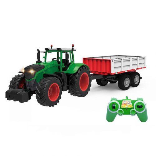 Távirányítós traktor utánfutóval a Double Eagle -től: fény, hanghatás és nagy méret!
