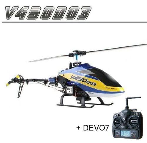 Walkera V450D03 RTF V2 DEVO7-es távirányítóval - második generáció, tökéletes, precíz repülés 3D-ben is!
