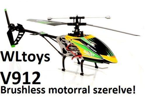 WLtoys V912 - szimpla rotor, 52 cm hossz, brushless motor!