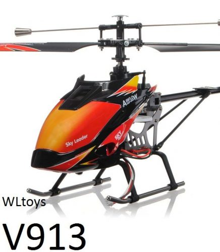 WLtoys V913 Sky Dancer - távirányítós rc helikopter, 69 cm hossz, brushless motor