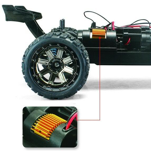 Land Buster RC távirányítós autó motorjának a hűtése
